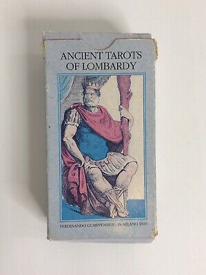 Ancient Tarots Of Lombardy. Very RARE Card Deck. Lo Scarabeo.