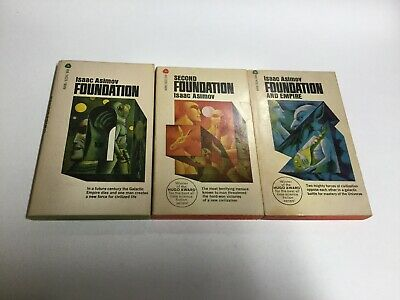 Isaac Asimov Foundation Trilogy 1-3 Lot Novel Books