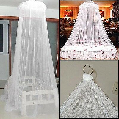 White Mosquito Net Fly Insect Protection Single Entry Double King Size Canopy GN