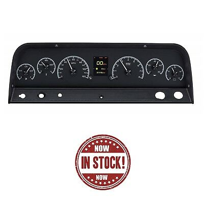 Dakota Digital 64-65-66 Chevy Camioneta Camión HDX Tablero Calibre Kit Negro