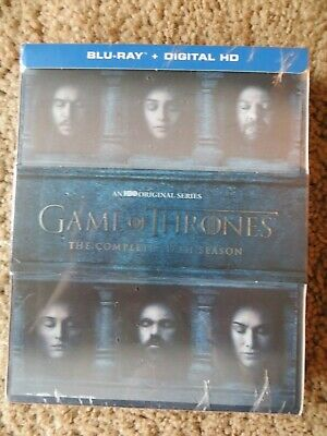 Game of Thrones: The Complete 6th Season (Blu-ray Disc, 2016, 4-Disc Set) NEW!!