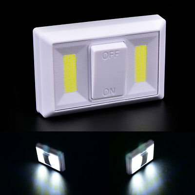 Night Light COB LED Cordless Switch wall Light Battery Operated Under Cabinet~GN