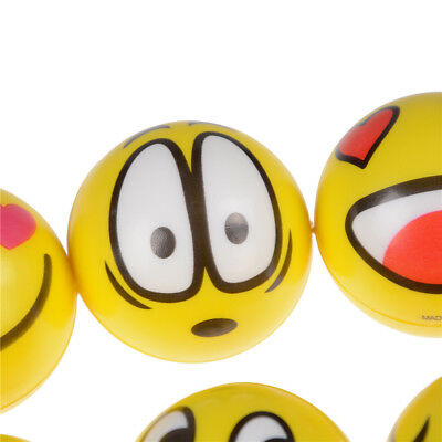Set of 12 Face Shaped Anti Stress Anxiety Relief Tool Squeeze Balls~GN