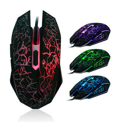 Cool 4000 DPI ratones 6 botones LED con cable USB Optical Gaming Mouse GN