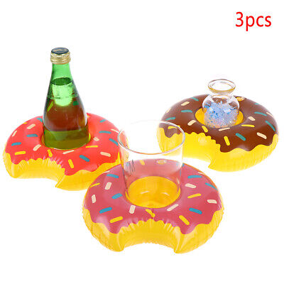 3pcs/lot Outdoor Donuts Inflatable cup holder Swimming Pool Party Decoration