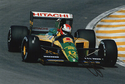 """F1 Driver Formula One Johnny Herbert Hand Signed Photo Autograph  12x8"""" AN"""