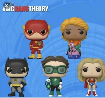 RARE Funko Pop Big Bang Theory SDCC 2019 Walmart Shared Exclusive Complete Set
