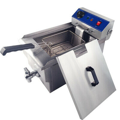 3000W 10L Electric Deep Fryer Fat Fry Chip Commercial Countertop Stainless Steel