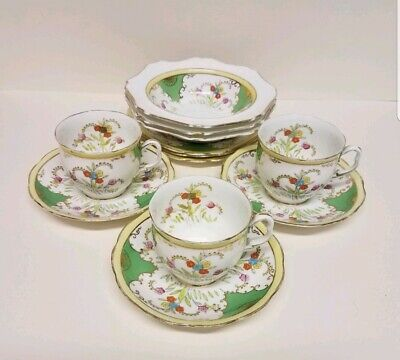 Rare Antique Royal Albert Crown China England Teaset Cups Saucers Plates Bowls