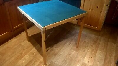 Vintage 'Vono' Felt top Folding Card Table in good condition
