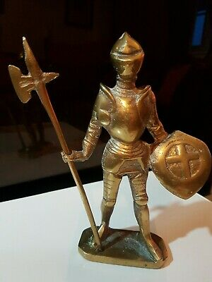 Brass Vintage Medieval Knight Armor figurine statue decor