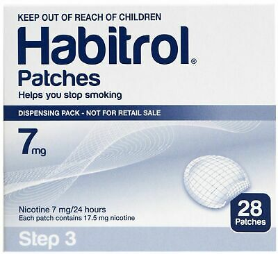 Habitrol Smoking Aid 28 Patches 7mg Patch Step 3 ex 10/20 free shipping !!