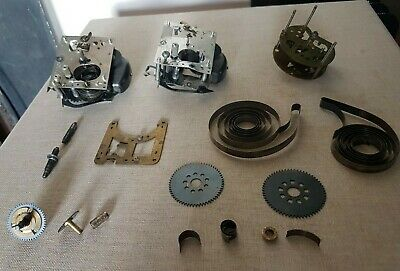 Job Lot of Vintage Clock Parts, including Enfield movement. Steampunk, craft etc