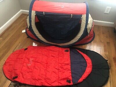 Pea Pod Kidco Toddler Baby Collapsible Tent Playpen Inflatable Mattress