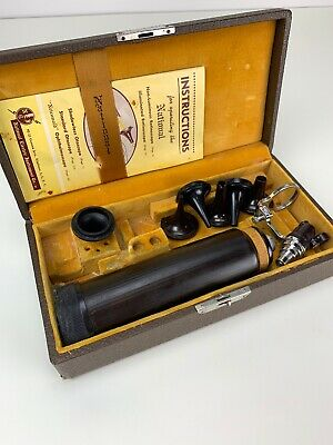 Antique Vintage Medical Surgical Device Tool National Otoscope Retinoscope