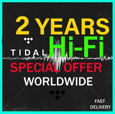 Tidal Hi-Fi PLAN 2 Years / 24 Months  - Worldwide - Fast delivery