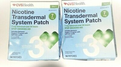 Nicotine Patch-CVS Health Transdermal System 7mg STEP 3 - 14 PATCHES Exp: 08/19