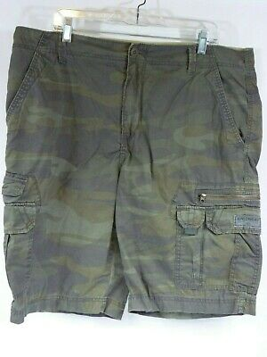 Union Bay Mens Size 40 Cargo Shorts Camouflage 9 Pocket Cotton - V71