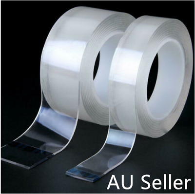 Nano Tape Transparent Traceless double sided Strong Adhesive Washable Reusable