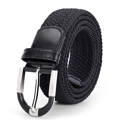 JASGOOD Men's Braided Stretch Elastic Belts Causal Belt for Golf Pants Jeans 345