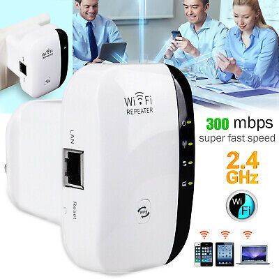 Wireless 300Mbps N 802.11 AP Wifi Range Router Repeater/Extender/Booster EU Plug