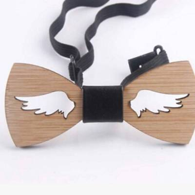 Men Wooden Bow Tie Accessory Wedding Gifts Bamboo Wood Bowtie For Men