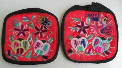 Chinese old hand embroidery pair pillow covers