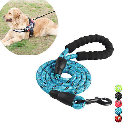 Multi-Color 5FT Strong Dog Leash Climbing Rope Reflective Thread for Medium Dog