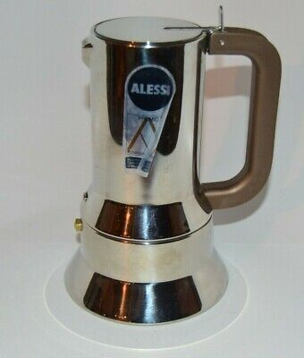 Alessi Espresso Coffee Maker 9090 6 Cup, Stainless Steel Pre Owned Nice with box