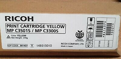 Genuine Ricoh 841437 Yellow Toner for MP C3501S / C3300S Brand New See Photos