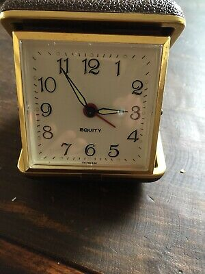 Travel Clock Alarm Original Vintage 2 JEWELS Collector fathers day gift Present