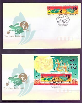 Christmas Island  1999  FDC, Year of the Rabbit (2).