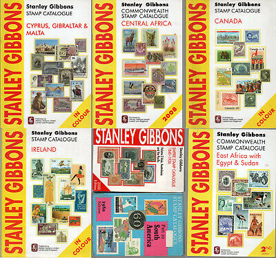 Stanley Gibbons Catalogues 7 Vols About 10 Countries