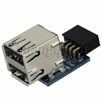 9 PIN USB2.0 Port Motherboard to Double Layer USB2.0 A Female Header Adapter
