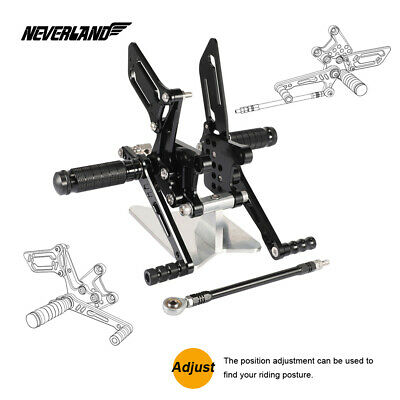Aluminum Rearset Foot pegs Rear set For Suzuki GSXR1000 2000-2004 SV650/SV650S