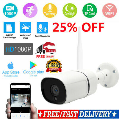 Wireless FHD 1080P WIFI IP Camera Onvif Outdoor Security IR Night Vision WebCam!