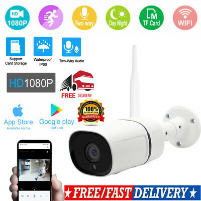 1080P WIFI IP Camera WHITE Wireless Outdoor CCTV HD Home Security IR Cam 2MP NEW