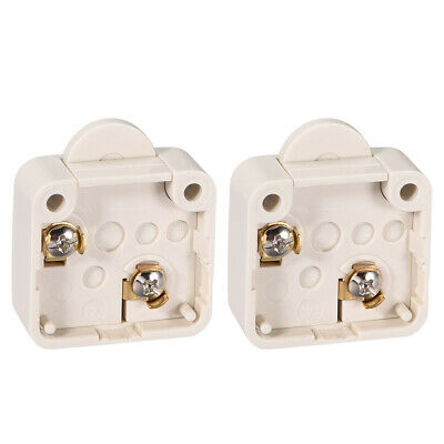 Wardrobe Door Light Switch Momentary Cabinet Switch NC 110-250V 2A Beige 2 Pcs