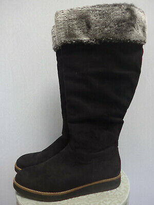 WOMEN'S SHEEGO BOOTS Leather Wide Calf XXL UK Size 8