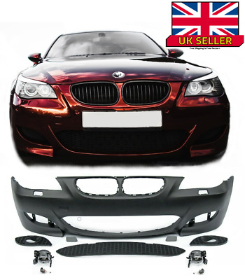 Front Bumper With Pdc With Washer Hole Bmw 5 E60 2003-2007 Not M Sport Or M5 New