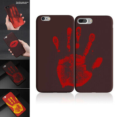 Fashion Thermal Sensor Case for iPhone X 8 7 6s Plus Heat Induction Funny Cover