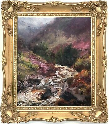 A Mountain Stream Antique Oil Painting by John Falconer Slater (1857–1937)