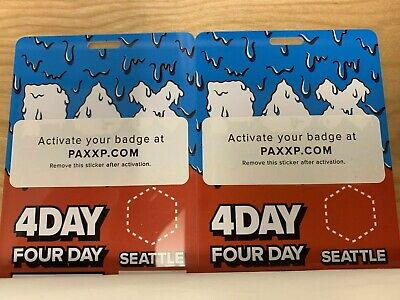 2019 Pax West Prime Badge 4 Day Friday Saturday Sunday Monday Ticket X 2!