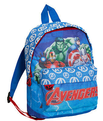 Boys Marvel Avengers Backpack Kids Character School Book Lunch Bag Rucksack