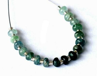 Natural Green Tourmaline Beads Rondelle 3.5 Mm 17 Pcs Loose Beads #d18560