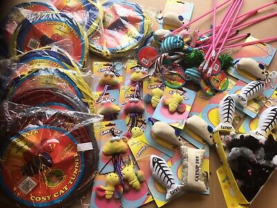 Cat - Wholesale Joblot 100 Cat Kitten Play Toys , Car Boot, Clearance Price