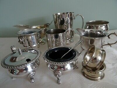 Job Lot Small Silver Plated Silver Items