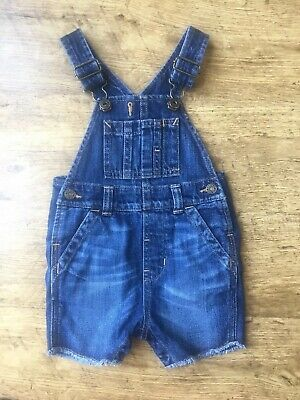 Gap ~ Baby Boys Blue Denim Dungarees ~ Age 6-12 Months