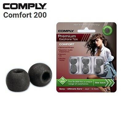 Comply Foam TS 100 200 400 500 600 Comfort 3 Pairs Earphone Tips Medium Black AZ
