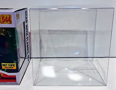 1 Box Protector For FUNKO POP! SCAR WITH FLAMES  Hot Topic Exclusive Clear Case